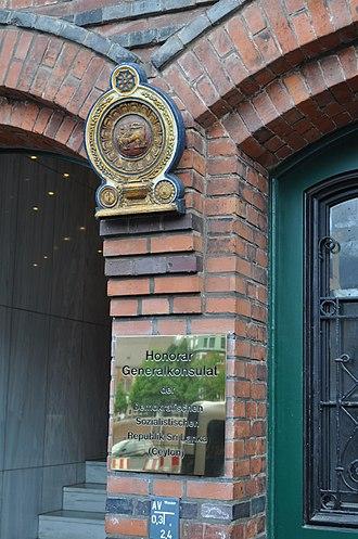 Foreign relations of Sri Lanka - Consulate General Office of Sri Lanka in Hamburg