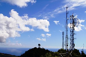 Pico Alto (Santa Maria) - The summit of Pico Alto is the location of communication antennas, as well as a lookout open to the public