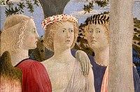 Piero della francesca, battesimo di cristo, 1450-60 ca. 02 angeli 1, straightened.jpg