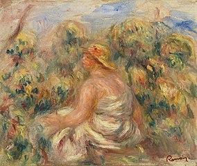 Woman with Hat in a Landscape (Femme avec chapeau dans un paysage)