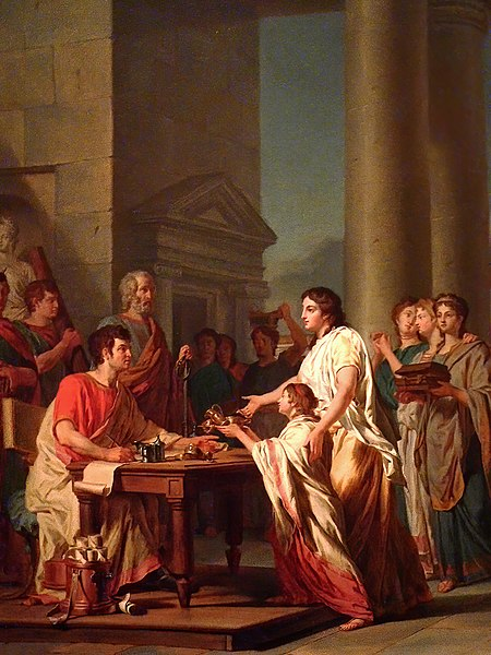 File:Piety and Generosity of Roman Women by Nicolas Guy Brenet French 1785 Oil MH 02.jpg