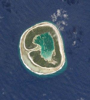 Pinaki (French Polynesia) - NASA satellite image of Pinaki atoll