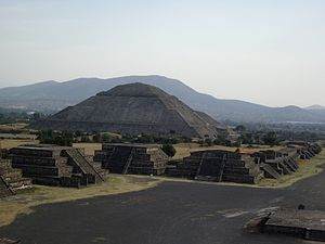 Architecture of Mexico - Pyramid of the Sun at Teotihuacan.