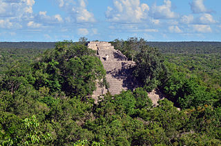 Calakmul Ancient Mayan city in Campeche, Mexico