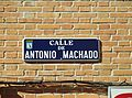 Placa de la calle de Antonio Machado.JPG