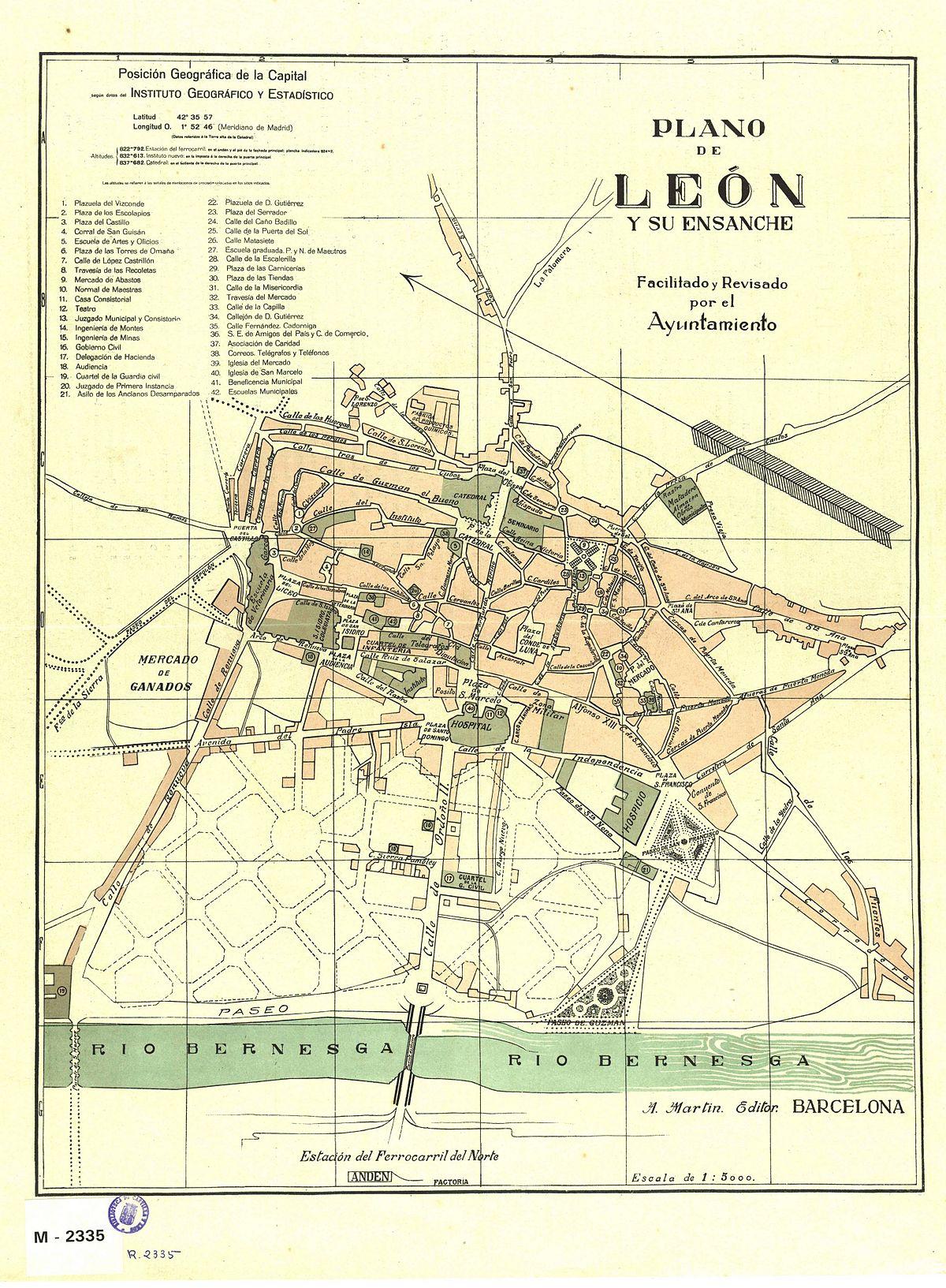 Casco antiguo de le n wikipedia la enciclopedia libre for Codigo postal del barrio de salamanca en madrid
