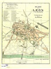 Plano de León y su ensanche 1
