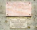 Plaque Jean Montvallier-Boulogne, 58-64 Boulevard Saint-Michel, Paris July 2015.jpg