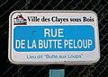 Plaque rue de la Butte Peloup, Les Clayes-sous-Bois, Yvelines.jpg