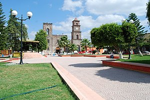 Arroyo Seco, Querétaro - Plaza and main church in municipal seat