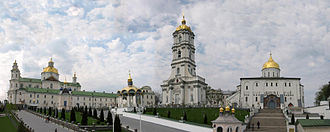 History of Christianity in Ukraine - Pochayiv Lavra, located right next to the border of the Russian Empire and Austro-Hungary after its return to Orthdoxy in 1833 became a major bastion against the Catholic-ruled Galicia.
