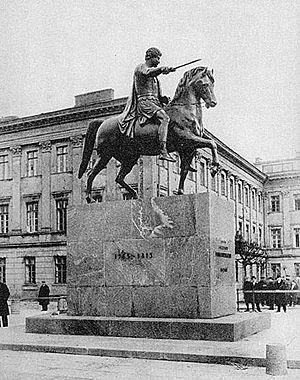 Monument to Prince Józef Poniatowski in Warsaw - Image: Pomnik Jozefa Poniatowskiego okolo 1925
