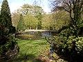 Pond in Shibden Hall garden, Southowram, Halifax - geograph.org.uk - 162236.jpg