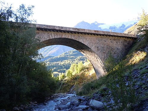 Photo - Pont franchissant le Maurian sur la N. 91