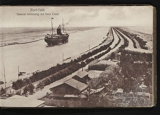 Port Said, Steamer Traversing the Suez Canal (n.d.) - front - TIMEA
