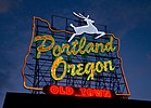 Portland Oregon - White Stag sign at dusk.jpg