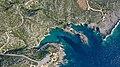 Porto Limnionas landscape aerial Zakynthos (31537530167).jpg