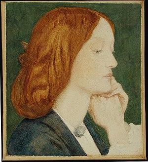 Delaware Art Museum - Portrait of Elizabeth Siddal by Pre-Raphaelite Dante Gabriel Rossetti