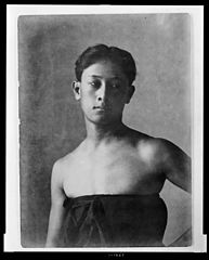 Portrait of Hawaiian boy titled 'The Athlete' (front view) 1909, Library of Congress.jpg
