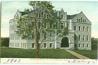 Kansas State University - Dickens Hall, from a 1907 postcard