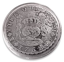 Silver 8 Real Coin Of 1768 From The Potos Mint