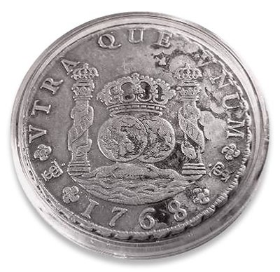 Spanish silver real or peso of 1768 Potosi Real.jpg
