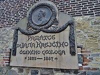 Prague Vyšehrad - Plaque commémorative de Jan Krejčí.jpeg