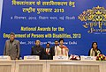 Pranab Mukherjee at the presentation ceremony of the National Awards for the Empowerment of Persons with Disabilities 2013, in New Delhi. The Union Minister for Social Justice & Empowerment, Kumari Selja.jpg