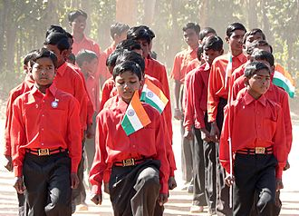 Jharkhand - Youth marching: parade for India's Republic Day, Jharkhand state, India