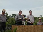President George W. Bush announcing his commitment of support for the Everglades National Park.jpg