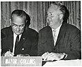President Lyndon B. Johnson and Mayor John F. Collins (11223238064).jpg