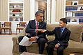 President Obama greets Make-a-Wish child Diego Diaz - June 23 2011.jpg