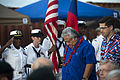 Prime Minister of Samoa Tuilaepa Aiono Sailele Malielegaoi, center, walks by a U.S. Navy color guard at the opening ceremony for the Samoan mission of Pacific Partnership 2013 in Apia, Samoa, June 1, 2013 130601-N-WD757-097.jpg