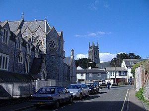St Marychurch - Priory Road, St Marychurch, with the tower of St Mary's Church in the distance
