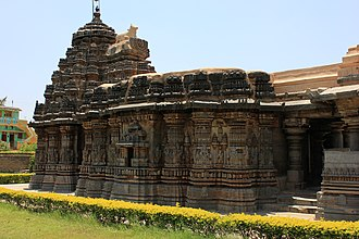 Ishvara Temple, Arasikere - Image: Profile of Ishvara temple at Arasikere