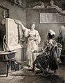 Properzia de' Rossi sculptant son dernier ouvrage-Alexandre Vincent Sixdeniers-MBA Lyon 2014.jpeg