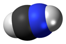 Protonated hydrogen cyanide cation 3D spacefill.png