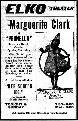 Prunella (1918 film) - Newspaper advertisement.