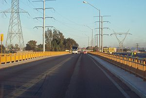 Mexican Federal Highway 2 - Colorado Bridge, a toll bridge over the Colorado River connecting the states of Baja California and Sonora