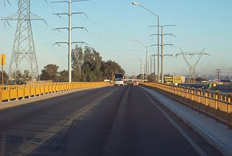 Mexican Federal Highway 2 - Colorado Bridge, a toll bridge over the Colorado River connecting the states of Baja California and Sonora