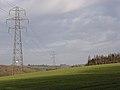 Pylons and arable farmland near Hare Warren - geograph.org.uk - 302018.jpg