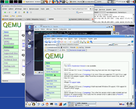Screenshot di QEMU