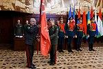 Qobul Berdiyev with the Victory Banner.jpg