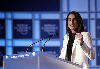 Queen Rania of Jordan - Queen Rania at the 2003 World Economic Forum in Davos, Switzerland
