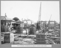 Queensland State Archives 3677 South approach construction of piers of concrete girder spans Brisbane 1 July 1936.png