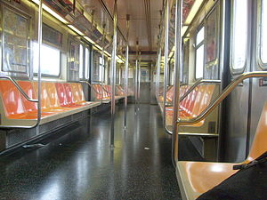 R62A (New York City Subway car) - Image: R62a 1 train interior