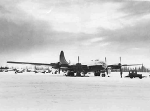 311th Air Division - 72d Strategic Reconnaissance Squadron RB-29 Superfortress on the ramp at Ladd AFB