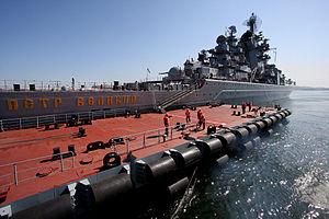 RIAN archive 700096 Pacific fleet vessels' sortie for combat training..jpg