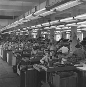 1965 Soviet economic reform - Day-to-day operations in 1967 at the economically reformed Bolshevichka clothing factory in Moscow—a pioneer of the new economic policy
