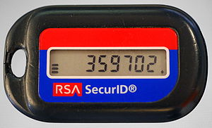 RSA SecurID - RSA SecurID token (older style, model SD600)